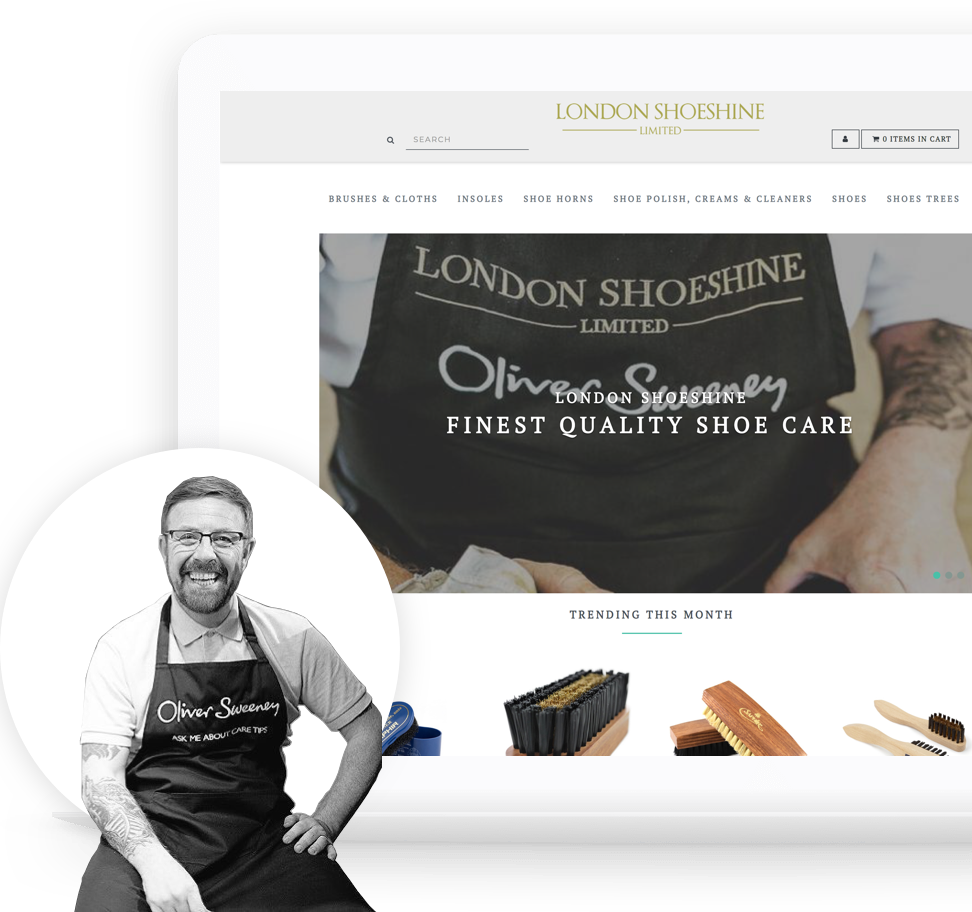 London Shoeshine ecommerce design