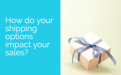 How do your shipping options impact your sales?