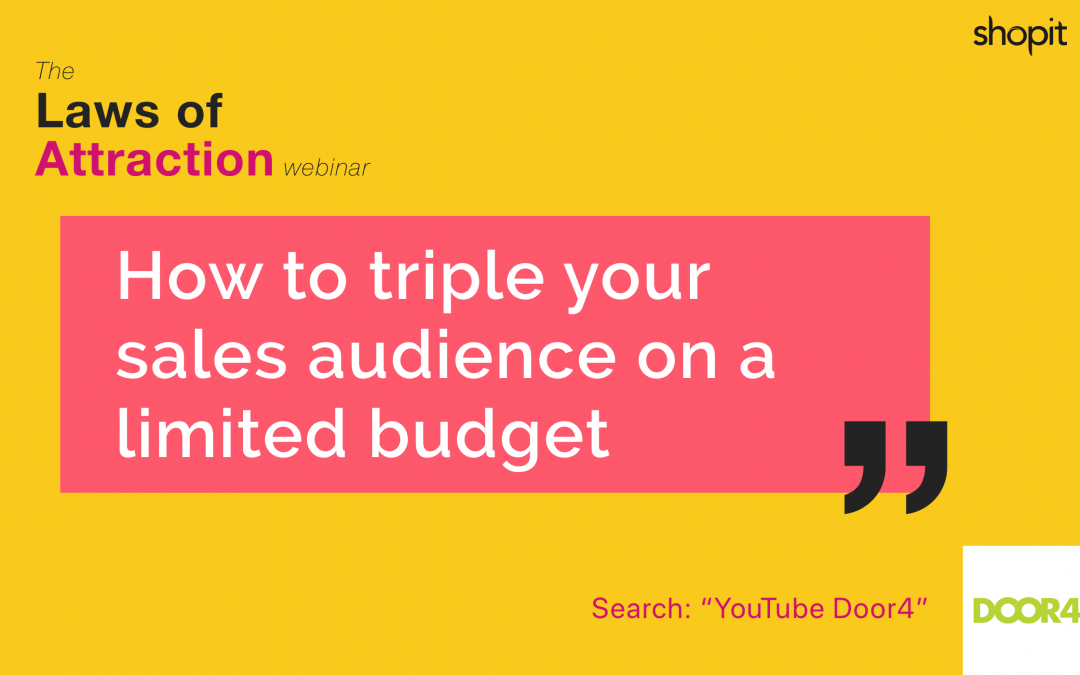 How to triple your sales audience with limited budget – webinar